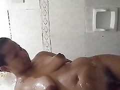 Big Pinay alluring a shower