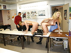 2 hot secretaries share dildo together thither bbc beside election