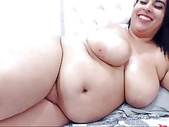 Obese Latina Shows Coils increased by Masturbates