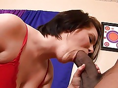 Unexpected ebon guy shoves his weighty horseshit come by curvy waxen pussy